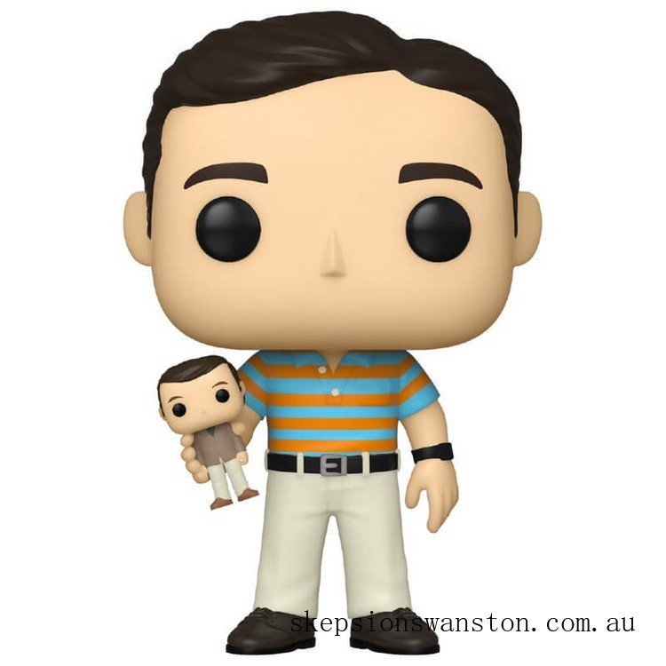 40 Year Old Virgin Andy holding Oscar with Chase Funko Pop! Vinyl Clearance Sale
