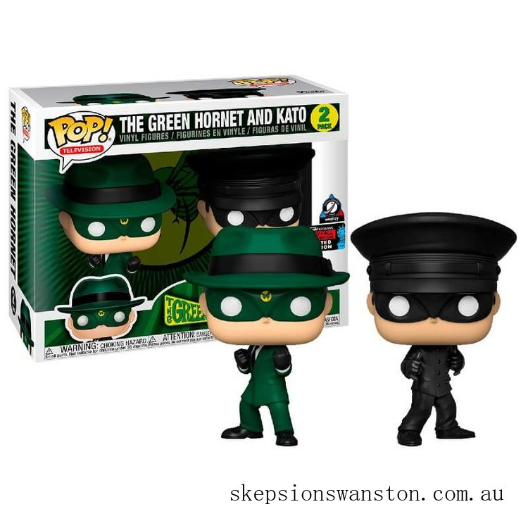 Green Hornet and Kato 2-Pack NYCC 2019 EXC Funko Pop! Vinyl Clearance Sale