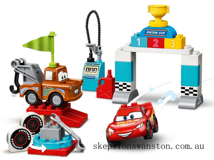 Clearance Lego Lightning McQueen's Race Day