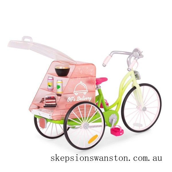 Genuine Our Generation Food Delivery Bike