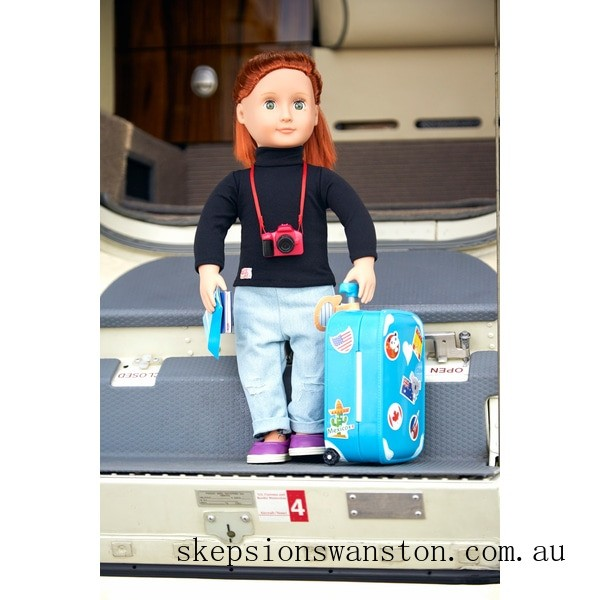 Genuine Our Generation Well Travelled Luggage Set