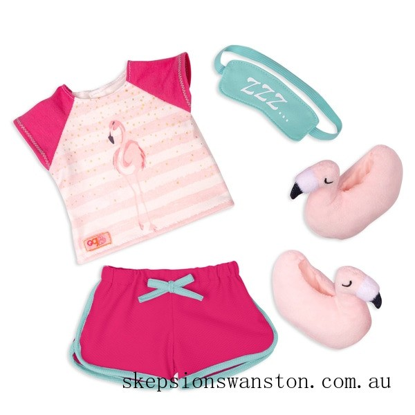 Hot Sale Our Generation Flamingo Dreaming Outfit