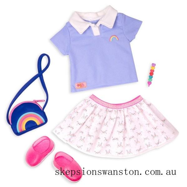 Genuine Our Generation Rainbow Academy Outfit