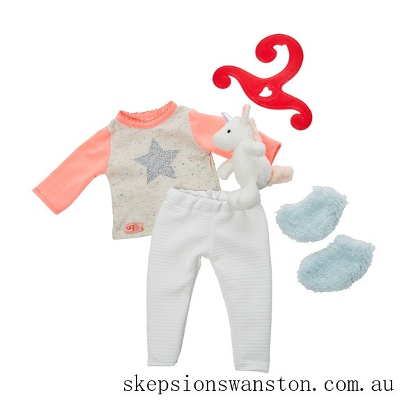 Clearance Our Generation Unicorn Pyjama Outfit