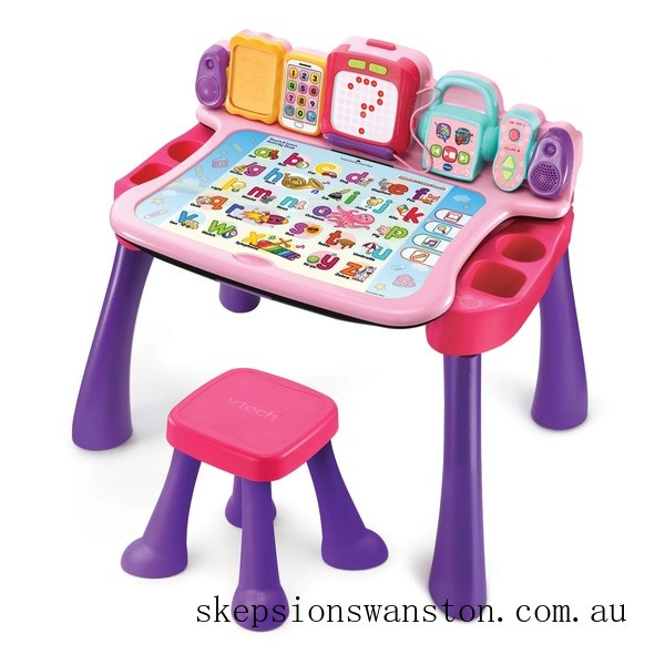 Genuine VTech Touch & Learn Activity Desk Pink