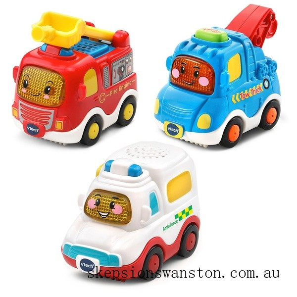 Discounted VTech Toot-Toot Drivers 3 Pack Emergency Vehicles