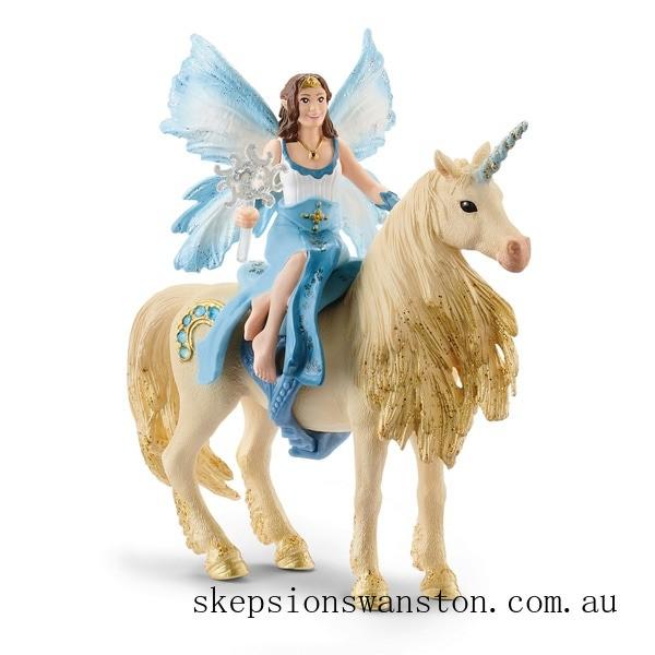 Discounted Schleich Eyela Riding On a Golden Unicorn
