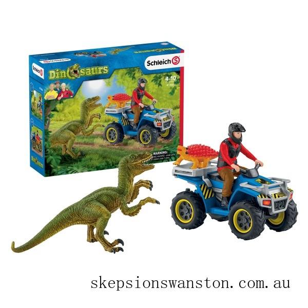 Genuine Schleich Quad Escape From Velociraptor