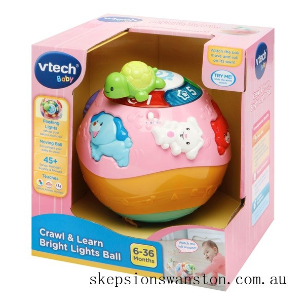 Discounted VTech Crawl & Learn Bright Lights Ball Pink