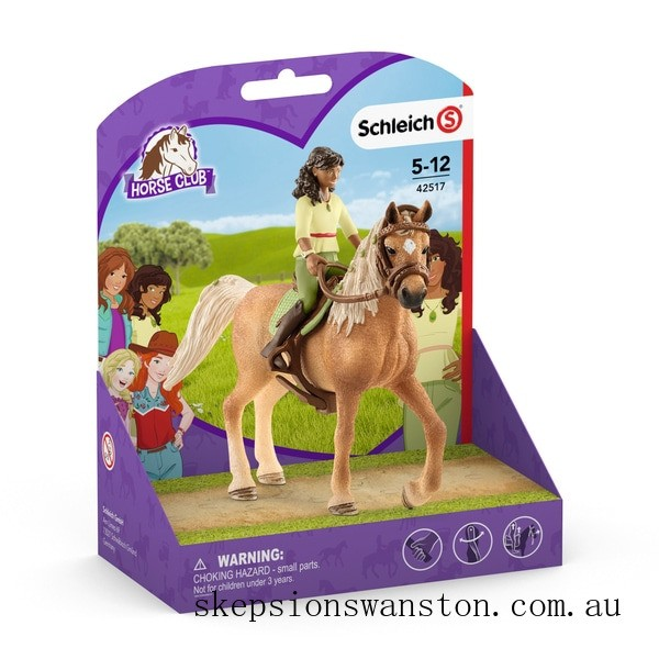 Hot Sale Schleich Horse Club and Rider Sarah and Mystery