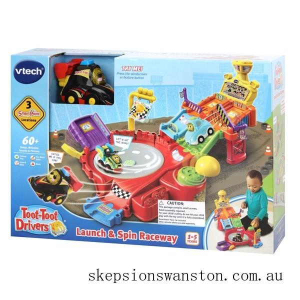 Genuine VTech Toot-Toot Drivers Spin Raceway