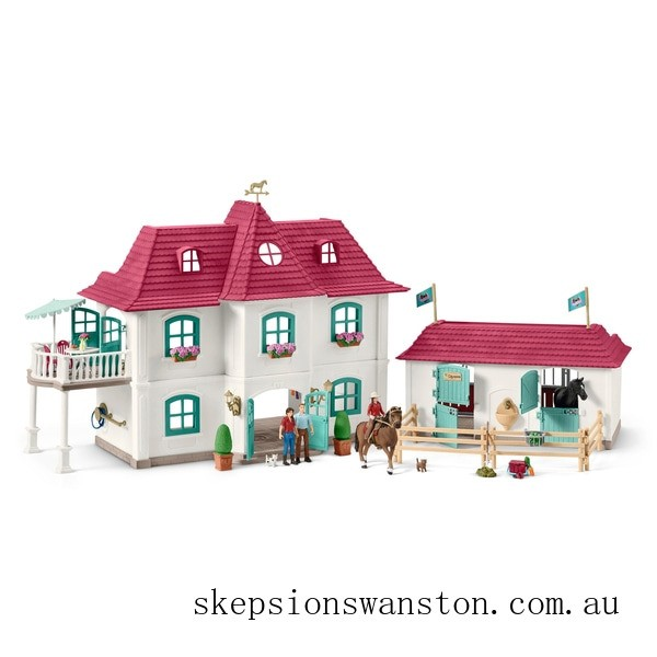Genuine Schleich Horse Club Large Horse Stable with House and Stable