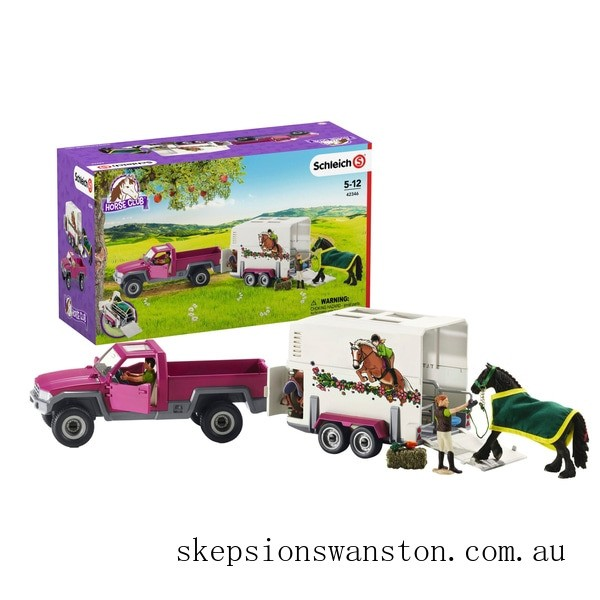 Hot Sale Schleich Horse Club Pick Up with Horse Box