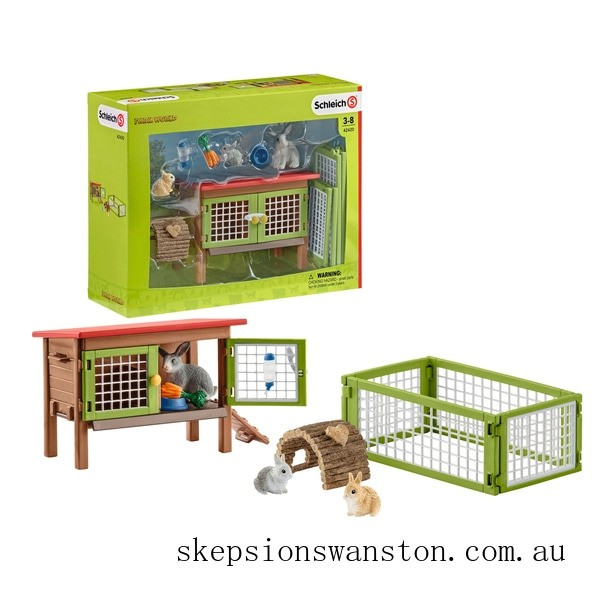 Clearance Schleich Rabbit Hutch