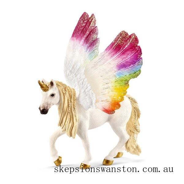 Clearance Schleich Winged Rainbow Unicorn