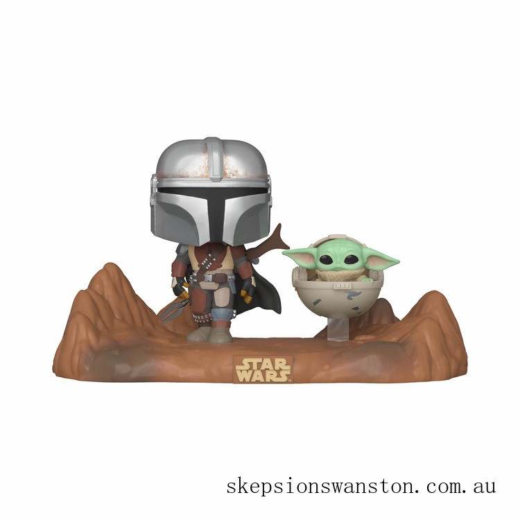 Star Wars The Mandalorian and The Child (Baby Yoda) Funko Pop! TV Moment Clearance Sale