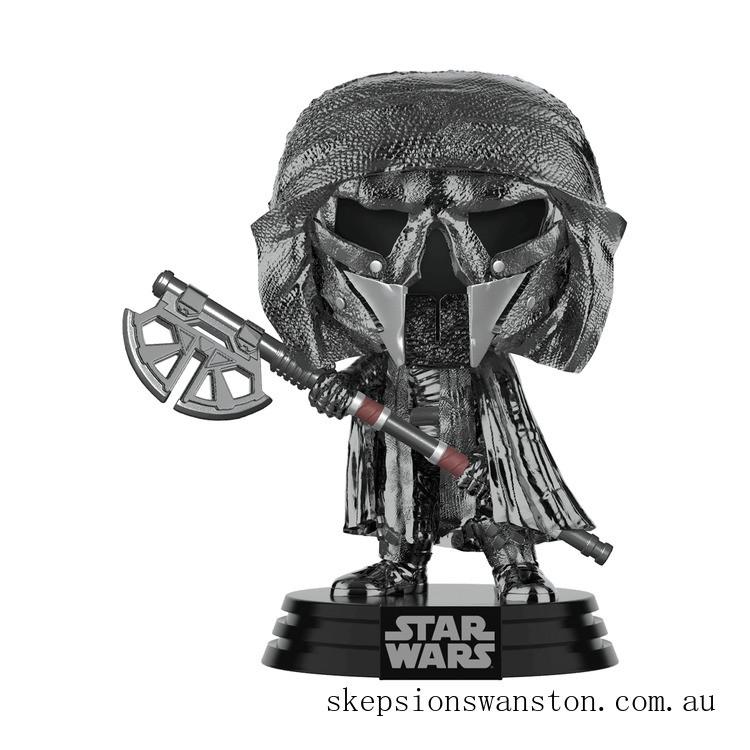 Star Wars: Rise of the Skywalker - Knights of Ren Axe (Hematite Chrome) Funko Pop! Vinyl Clearance Sale