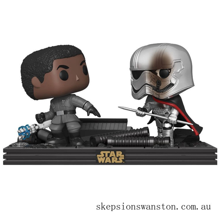 Star Wars The Last Jedi Finn & Captain Phasma Funko Pop! Movie Moment Clearance Sale