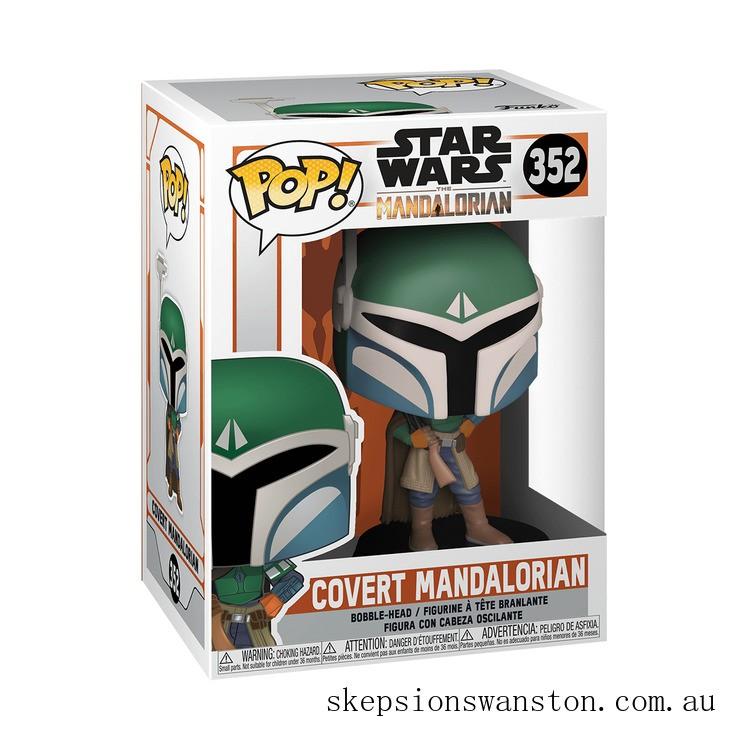 Star Wars The Mandalorian Covert Mandalorian Funko Pop! Vinyl Clearance Sale