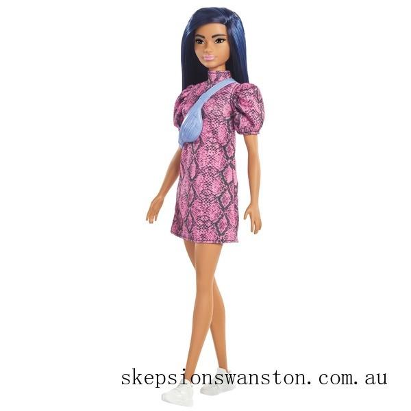 Genuine Barbie Fashionista Doll 143 Snakeskin Dress