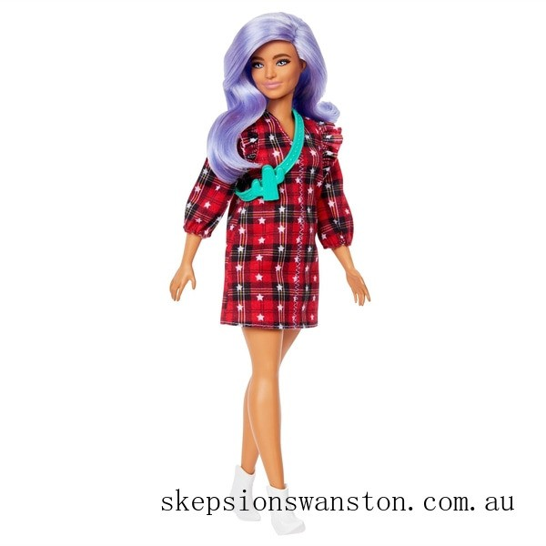 Hot Sale Barbie Fashionista Doll 157 Red Checkered Dress