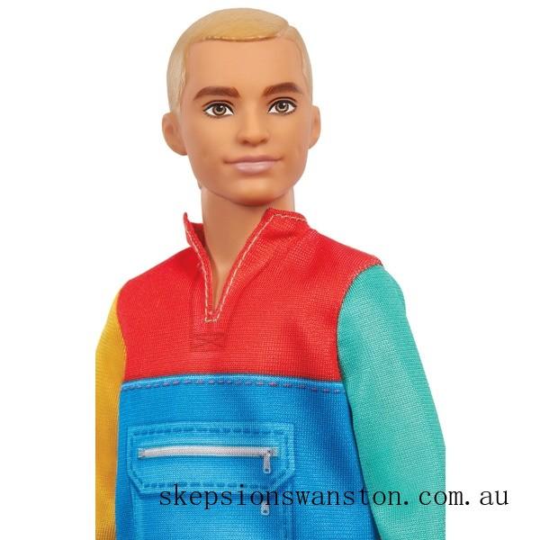 Outlet Sale Ken Fashionista Doll 163 Colour Block Hoodie