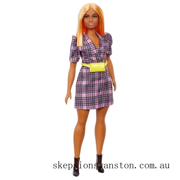 Outlet Sale Barbie Fashionista Pink Polka Dot Dress with Yellow Bum Bag