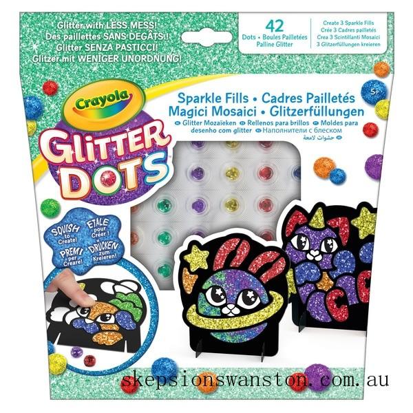 Genuine Crayola Glitter Dots Sparkle Fills