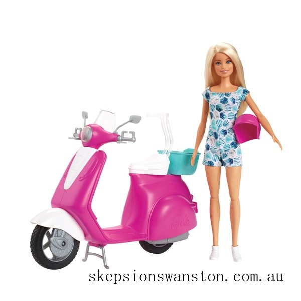 Clearance Barbie Doll and Scooter