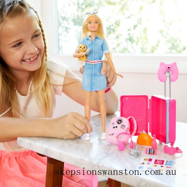 Hot Sale Barbie Travel Doll and Accessories