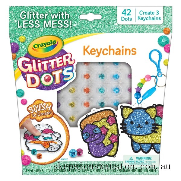 Outlet Sale Crayola Glitter Dots Sparkle Friends Keychain