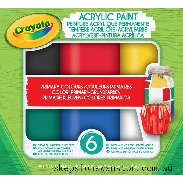 Outlet Sale Crayola Acrylic Paint Primary Colours