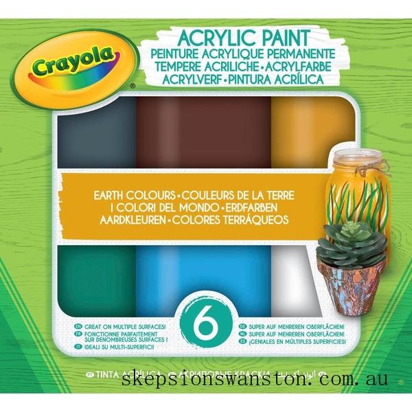 Hot Sale Crayola Acrylic Paint Earth Colours