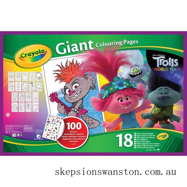 Outlet Sale Crayola Trolls 2 Giant Colouring Pages