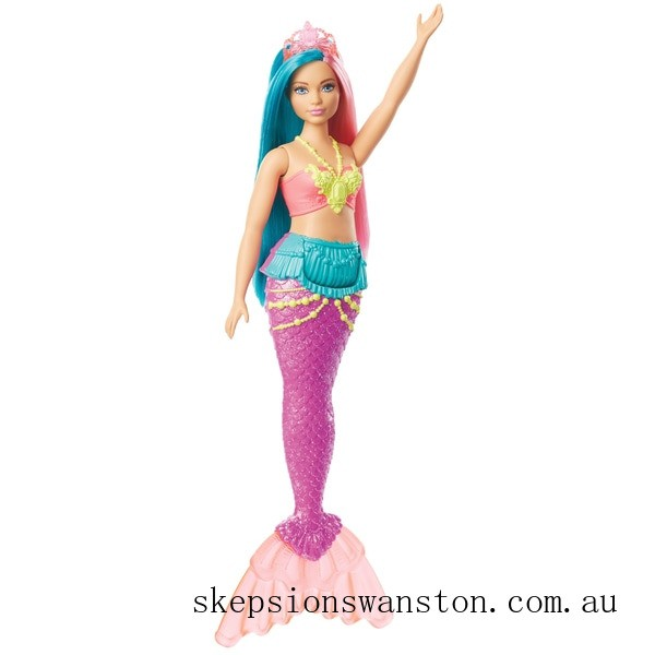 Clearance Barbie Dreamtopia Mermaid Doll - Pink and Teal