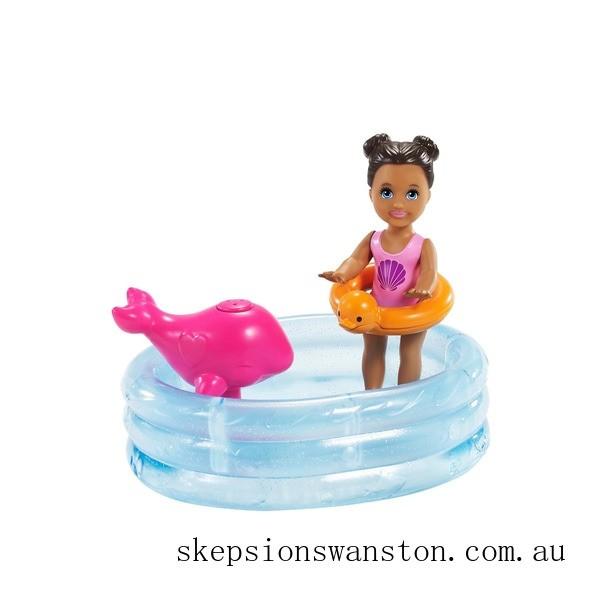 Hot Sale Barbie Babysitter Skipper Pool Playset