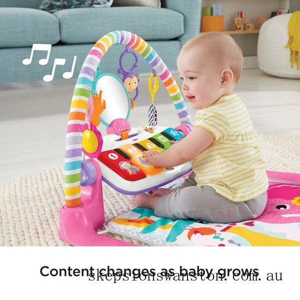 Genuine Fisher-Price Piano Baby Play Mat and Play Gym Pink