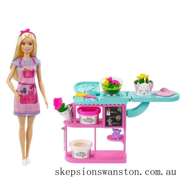 Discounted Barbie Flower Shop Playset and Florist Doll