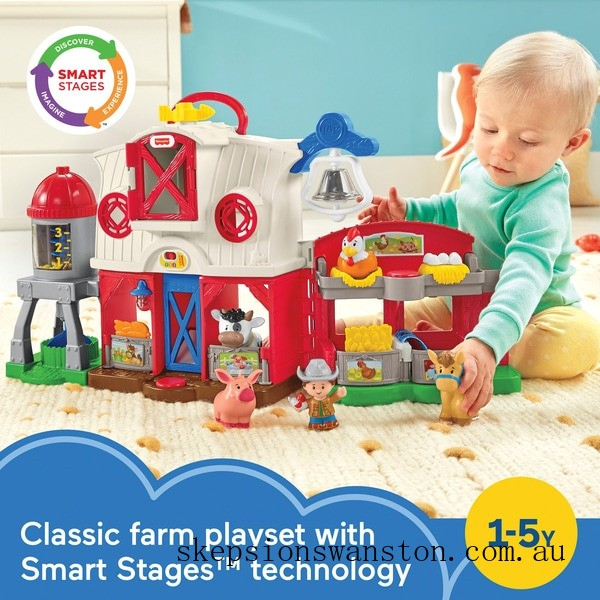 Genuine Fisher-Price Little People Caring for Animals Farm