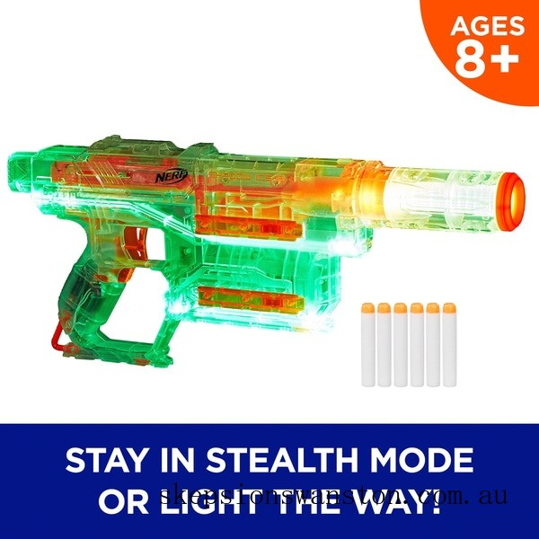 Clearance NERF Modulus Ghost Ops Shadow ICS-6 Blaster