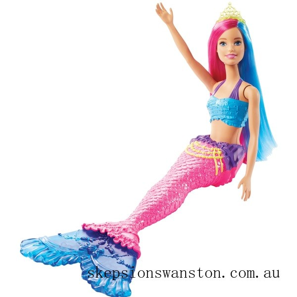 Discounted Barbie Dreamtopia Mermaid Doll - Pink and Blue