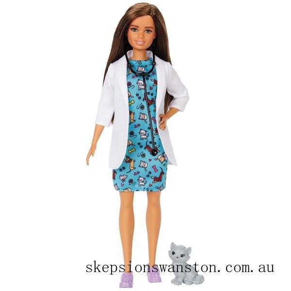 Clearance Barbie Careers Pet Vet Doll