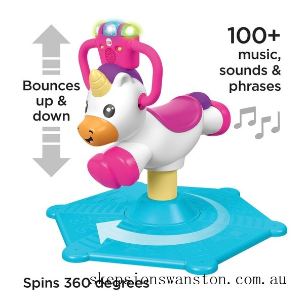 Clearance Fisher-Price Bounce and Spin Unicorn Ride On