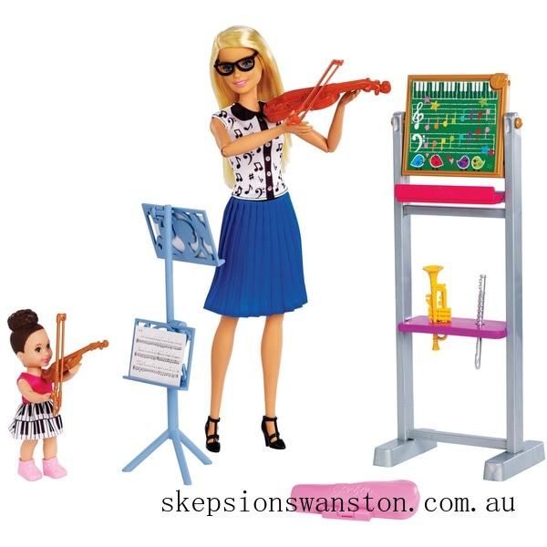 Clearance Barbie Careers Teacher Doll Music Playset