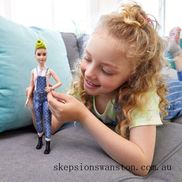 Outlet Sale Barbie Fashionista Doll 124  Dotty Denim Dungarees