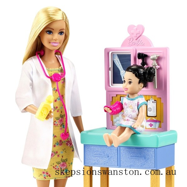 Outlet Sale Barbie Careers Pediatrician Doll Playset