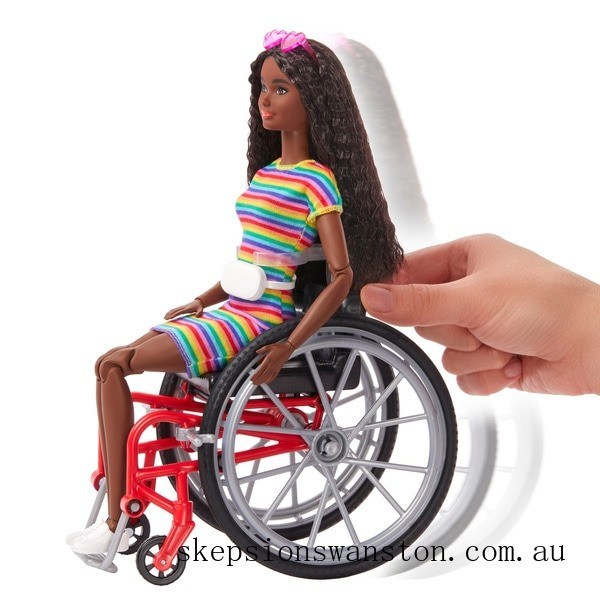 Discounted Barbie Doll 166 with Wheelchair Brunette