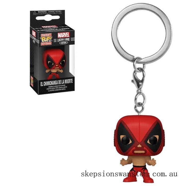 Marvel Luchadores Deadpool Pop! Keychain Clearance Sale
