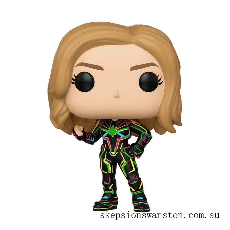 Marvel Captain Marvel Neon Suit Funko Pop! Vinyl Clearance Sale