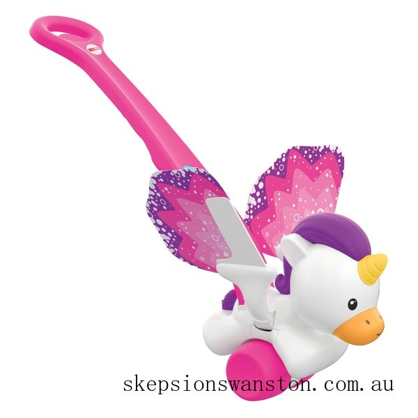 Clearance Fisher-Price Push and Flutter Unicorn